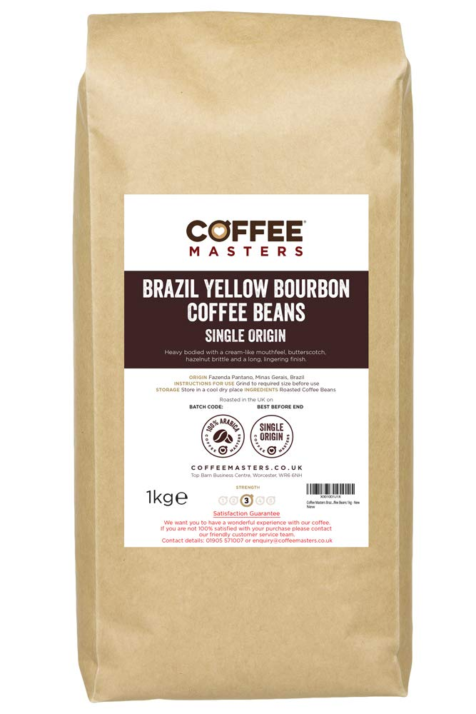 Coffee Masters Brazil Yellow Bourbon Coffee Beans 1kg – New