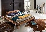 SAM® Massives Balkenbett Elke aus Akazie 140 x 200 cm