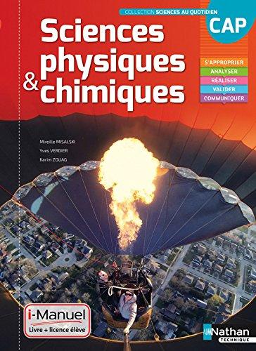 Sciences physiques et chimiques CAP