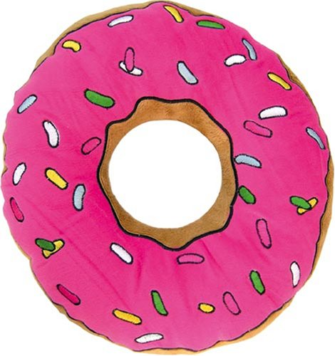 United Labels The Simpsons Kissen Donut, Plüsch, Black, Mehrfarbig, 2 -