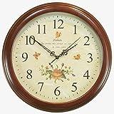 DW HCKK M&T Mute Wanduhr/Objekte der Dekoration der Europäischen Stil in Holz Wanduhr Retro/Alten Garten Alarm Clocks - EIN 14 Zoll