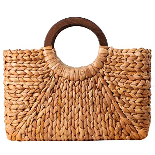 COAFIT Einkaufstasche Natural Corn Husk Woven Handmade Hobo Bag Hand Tote für Den Sommer -