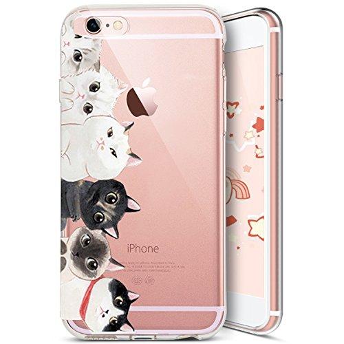 Coque iPhone 8 Plus,Coque iPhone 7 Plus,Ukayfe [Liquid Crystal] Coque en Silicone Souple TPU Housse Etui de Protection avec Absorption de Choc et Anti-Scratch Silicone Transparent Coque [Créatif Texte Chat#10