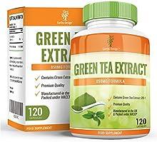 Extracto de Té Verde para dietas de adelgazamiento. Cápsulas de Té Verde de 850mg con EGCG para quemar grasa. Suplemento de concentración máxima para perder peso. Potente antioxidante - 120 cápsulas