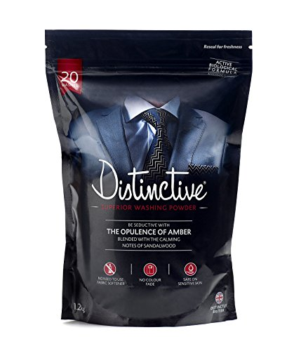 Distinctive Superior Washing Powder - Masculine Amber & Sandalwood fragrance