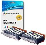 12 Tintenpatronen kompatibel zu PGI-520 CLI-521 für Canon Pixma MP540 MP540x MP550 MP560 MP620 MP620b MP630 MP640 MP980 MP990 MX860 MX870 iP3600 iP3680 iP4600 iP4680 iP4700 - hohe Kapazität