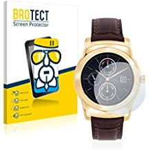 BROTECT AirGlass Protector Pantalla Cristal Flexible Transparente para LG Watch Urbane Luxe Protector Cristal Vidrio - Extra-Duro, Ultra-Ligero, Ultra-Claro