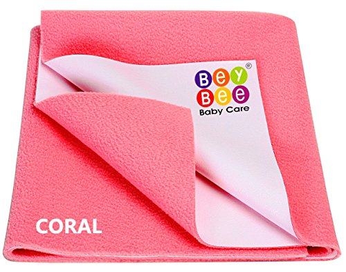 Bey Bee - Quick Dry Baby Bed Protector Waterproof Sheet (Salmon Rose)...