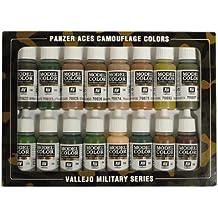 Vallejo Camouflage - Set de pintura acrílica (16 unidades), multicolor