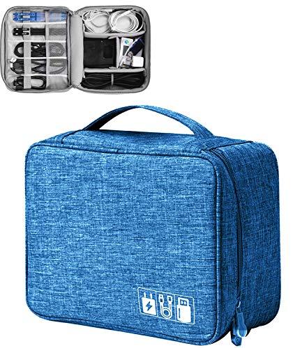 Elektronische Tasche - Elektronik zubehör organisator - universal travel Kabel Organizer Tasche (Deep Blue)
