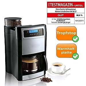 kompakte kaffeemaschine mit integrierter kaffeem hle zum mahlen und aufbr hen von 1. Black Bedroom Furniture Sets. Home Design Ideas