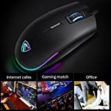 Gaming Mouse RGB,Xergur 6 DPI Mode Programmable 8 Buttons Backlit Optical USB Wired Gaming Mice, PC Computer Laptop Mouse,16 Million LED Color Support Macro Editor,for Pro Gamer Win 10/8/7