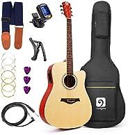 Vangoa Guitarra Electro Acústica, 41 Pulgadas Guitarra Eléctrica Acústica 4 Band EQ Guitarras Principiantes co
