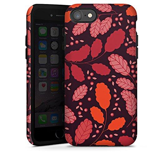 Apple iPhone X Silikon Hülle Case Schutzhülle Blätter Herbst Ranken Tough Case glänzend