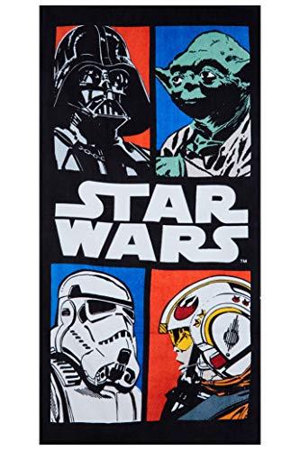 StarWars 140x70cm Handtücher, Strandtücher, Badetücher aus 100% Baumwolle, Verschiedene Designs mit bekannten Motiven der Filme, für Kinder (Comix)