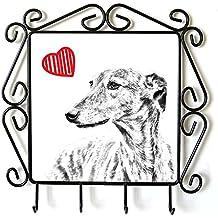 Galgo, Suspensión de ropa con una imagen de un perro y el corazón