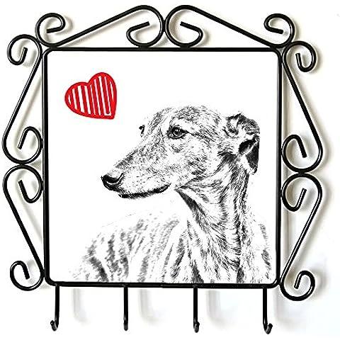 Levriero, Appendiabiti con l'immagine di un cane e di cuore