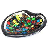 Moroccan Themed Heart Mosaic Potpourri Decorative Dish / Bowl (Small)