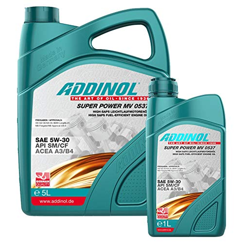 Addinol Motoröl 5W-30 Super Power MV 0537 5L + 1L