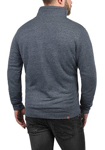 BLEND Tedox Herren Sweatjacke Zip-Jacke mit Teddy-Futter und Stehkragen aus hochwertiger Baumwollmischung Meliert Navy (70230)
