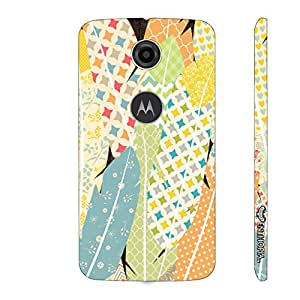 Motorola Moto E (2nd gen) Prints on Feathers designer mobile hard shell case by Enthopia