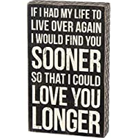 Primitives by Kathy 27283 Classic Box Sign, I Could Love You Longer
