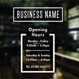 opening hours sign opening times sign for shop window sticker v11 open closed sign business hours personalised business window stickers personalised bespoke signage decals