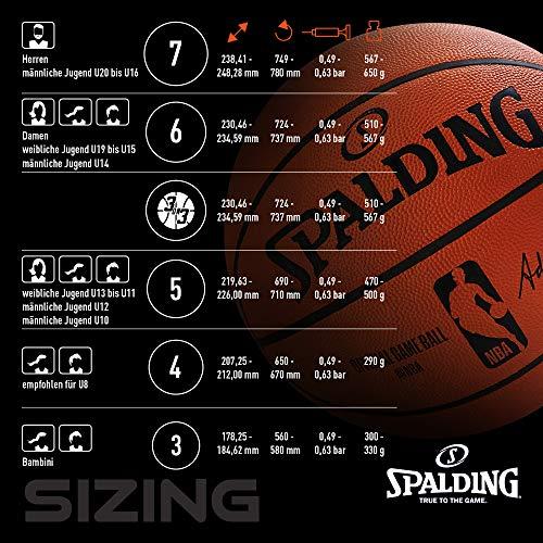 Spalding Unisex- Erwachsene NBA Marble Out SZ.6 (83-879Z) Basketball, bunt, 6