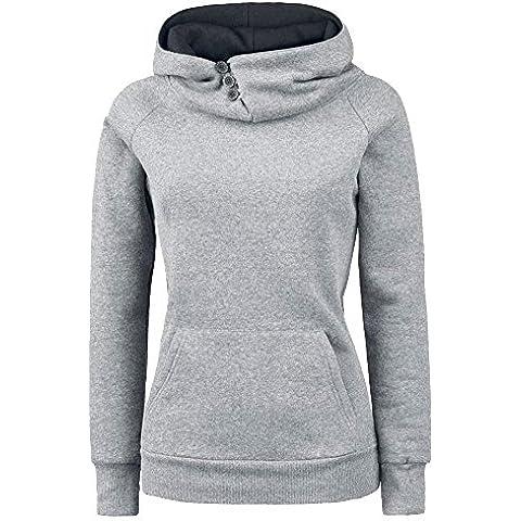 Molly Fitness Sweatshirt Hoody Sudadera con Capucha Para Mujer Gris