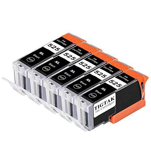 Tigtak® Reemplazo para Canon PGI-525 CLI-526 Cartuchos de tinta Compatible para CANON PIXMA IP4850 IP4950 MG5150 MG5250 MG5350 MG6150 MG6220 MG6250 MG8150 MG8220 MG8250 MX715 MX885 IX6550 Impresora, con nuevos Chips