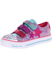Skechers ShufflesTriple Up 10249L BKSP - Zapatillas de lona para niña