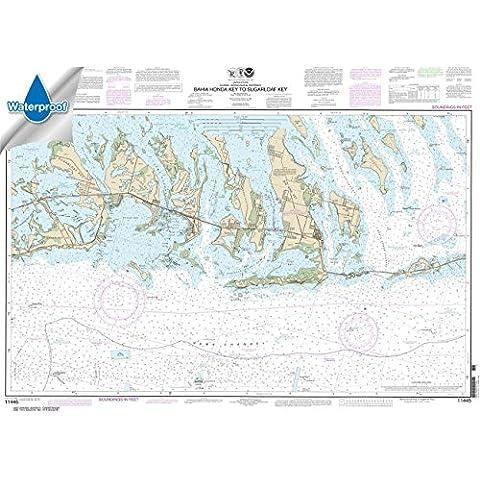 NOAA Chart 11445: Intracoastal Waterway Bahia Honda Key to Sugarloaf Key, 27.7 X 38.3, WATERPROOF by NOAA