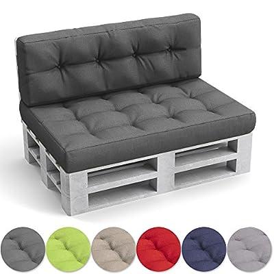 OSKAR Palettenkissen Palettensofa Palettenpolster Kissen Polster Lehne Set Sitz+Rückenkissen