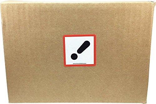 GHS Pictograma Signo de Exclamación Pegatinas, 51 mm 2 Pulgadas Cuadrado, 500 Etiquetas en un Rollo