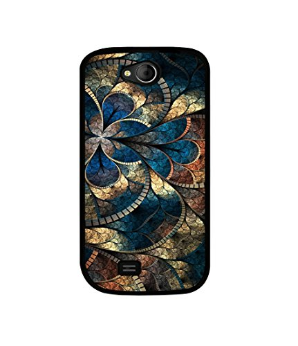 Casotec Fractional Pattern Design Canvas Printed Soft TPU Back Case Cover for Micromax Canvas Elanza A93  available at amazon for Rs.349