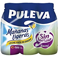 Puleva Leche Mañanas Ligeras Semidesnatada - Pack 6 x 1 L - Total: ...
