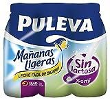 Puleva Leche Mañanas Ligeras Semidesnatada - Pack 6 x 1 L - Total: 6 L