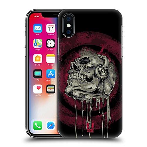 Head Case Designs Tom Skull Of Rock Cover Retro Rigida per Apple iPhone X Testa Musicale