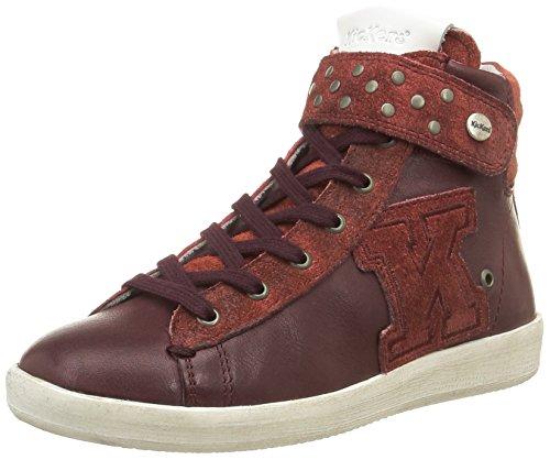 Kickers  Hakili,  Sneaker ragazza Rosso Rosso (Bordeaux) 35