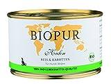 Biopur Bio Hundefutter Welpen: Geflügel, Reis, Karotten 400g Glutenfrei, 12er Pack (12 x 400 g)