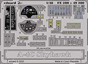 Eduard Accessories FE280Modelo Diseño Accesorios a BL-4C-Skyhawk
