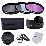 Neewer® 58mm Lente Filtro Kit Accessori per Fotocamere CANON EOS 700D 650D 600D 550D 500D 450D 400D 350D 300D 1100D 1000D 100D 60D / Rebel T5i T4i T3i T3 T2i T1i XT XTi XSi SL1 DSLR - Include: (1)58mm Set Filtro (UV, CPL, FLD) + (1) Paraluce Tulipano + (1) Snap-on Coprilente + (1) Coprilente Custode Guinzaglio + (1) Filtro Custodia per il Trasporto + (1)Microfibra Panno di Pulizia