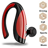 Bluetooth In-Ear Drahtlos, TechCode Drahtloser Bluetooth Kopfhörer In-Ear Outdoor Sport V4.1 Stereo Freisprech-Kopfhörer Ohrhörer Noise Cancelling Ohrhörer mit Mikrofon für iPhone X / 8 / 8plus / 7 / 7plus, Galaxy Note s8 / s9 Plus, Samsung Galaxy S9/S9 Plus,iPad / Tablet PC / Andere Bluetooth Smartphone (Rot)