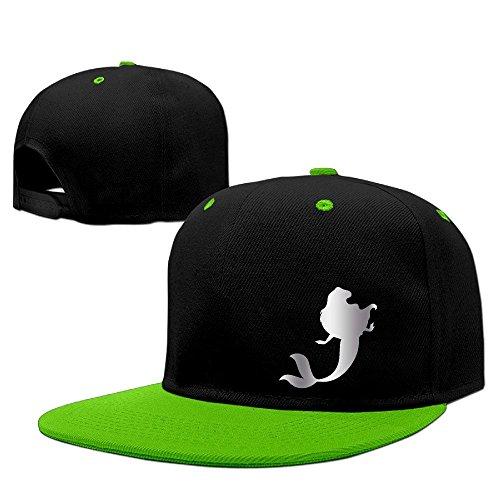 Hittings Little Mermaid Platinum Style Baseball Snapback Cap Red KellyGreen