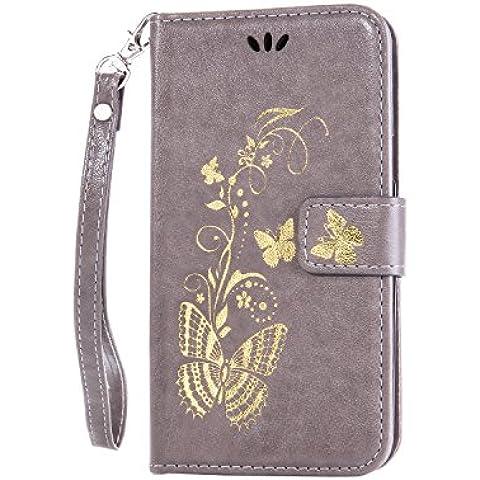 Leather Case Cover Custodia per iPhone 5