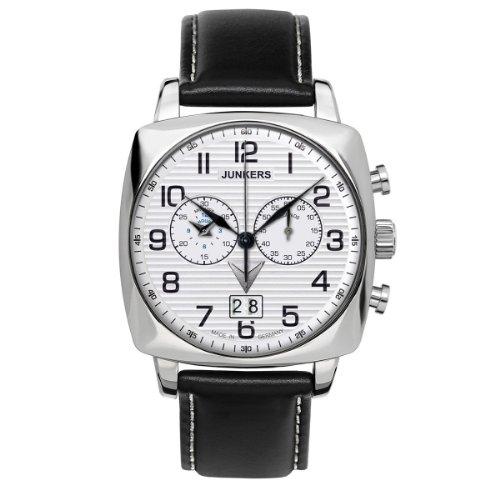 Junkers Herren-Armbanduhr 1. Atlantikflug Ost-West Chronograph Quarz Leder 64861