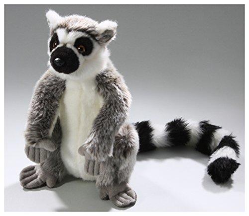 (Carl Dick Katta, Lemur sitzend grau aus Plüsch ca. 27cm, 45cm mit Schwanz 2669)