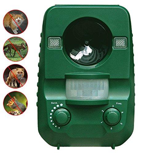 AngLink Solar Katzenschreck Ultraschall abwehr mit Batteriebetrieben und Blitz - Wetterfest - Hundeschreck, Marderschreck, Waschbären, Tierabwehr, Taubenabwehr [Neuste Upgrade-Version] (Upgrade-lösung)