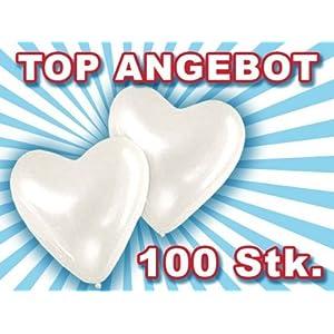 Set di palloncini a forma di cuore 100 PZ in bianco matrimonio nozze festa evento compleanno cerimonia decorazione allestimento romantico amore san valentino