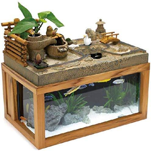ZHUYUE Beautiful Desk Aquarium Table Fish Tank Interior Decoration Humidification Natural Landscape Home Decoration…